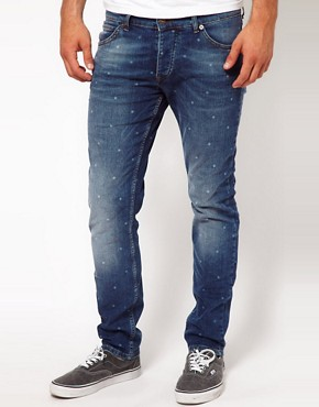 Image 1 ofASOS Skinny Jeans With Polka Dot Print