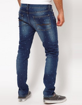 Image 2 ofASOS Skinny Jeans With Polka Dot Print
