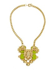 ASOS Boxchain Collar Necklace with Bug