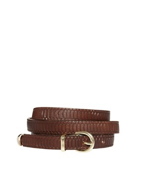 Image 1 ofPieces Emily Leather Slim Belt