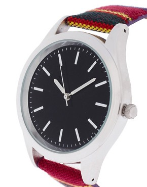 Image 4 ofASOS Fabric Stripe Watch