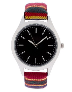Image 1 ofASOS Fabric Stripe Watch