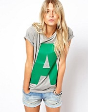 ASOS - T-shirt con lettera &quot;A&quot; stampata in plastisol