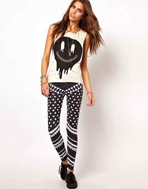 Image 1 ofYour Eyes Lie Striped Leggings