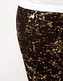 Image 3 ofASOS CURVE Legging With Metallic Paint Splatter