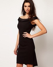 Hybrid Dress With Bardot Neckline