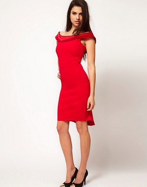 Image 4 ofHybrid Dress With Bardot Neckline