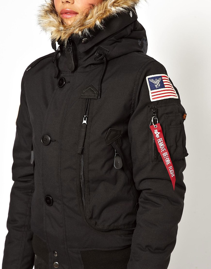 alpha industries alpha industries polar bomberjacke. Black Bedroom Furniture Sets. Home Design Ideas