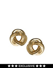 Susan Caplan Exclusive For ASOS Vintage &#39;80s Knot Stud Earrings