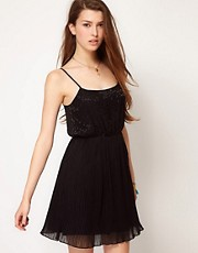 Motel Pleated Dress With Sequins
