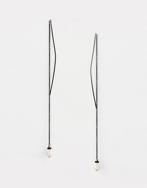 Lipsy Pearl Pull Thread Through Earrings