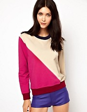 Ostwald Helgason Long Sleeved Sweater in Colour Block