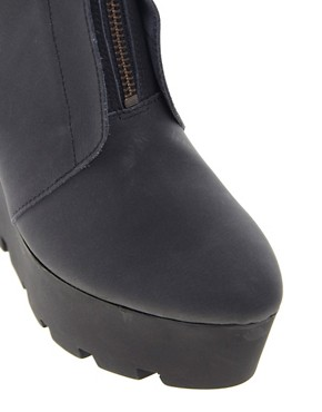 Image 2 ofCheap Monday Monolit Zip Front Wedge Ankle Boots