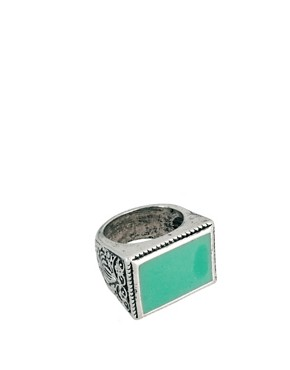 Image 1 of ASOS Coloured Stone Ring