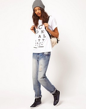 Image 4 ofASOS T-Shirt with &#39;Come a Little Closer&#39; Print