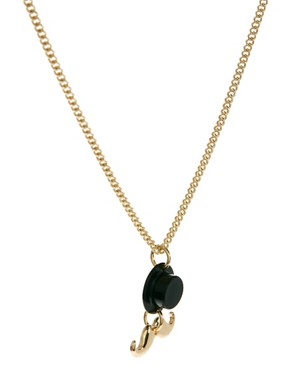 Image 4 ofASOS Top Hat &amp; Moustache Charm Necklace