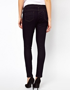 Image 2 ofASOS Maternity Elgin Indigo Skinny Jeans With Adjustable Waistband