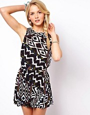 ASOS Playsuit in Tribal Print