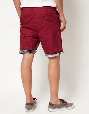Image 2 ofSuit Gingham Trim Chino Shorts
