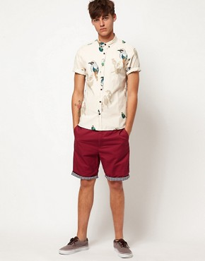 Image 4 ofSuit Gingham Trim Chino Shorts