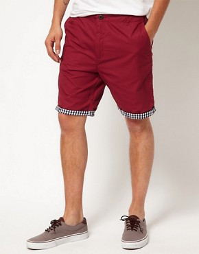 Image 1 ofSuit Gingham Trim Chino Shorts