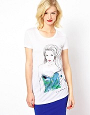 POP Cph T-Shirt with Watercolour Print