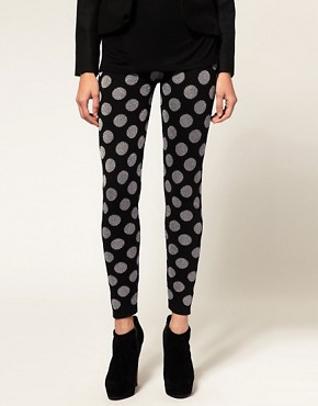 Image 4 ofASOS Knitted Leggings With Metallic Spot