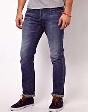 Paul Smith Jeans Drainpipe Jeans in Left Hand Twill