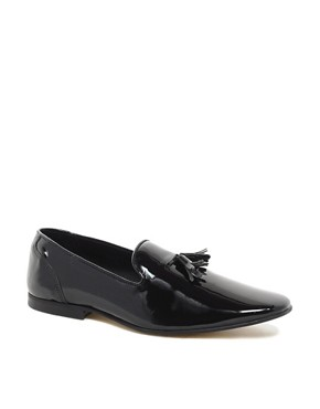 Image 1 ofASOS Loafers in Patent