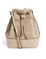 Mango Perforated Cross Body Duffel Bag
