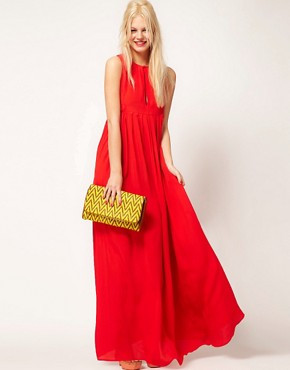 Image 1 ofASOS Sleeveless Pleated Maxi Dress