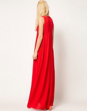 Image 2 ofASOS Sleeveless Pleated Maxi Dress