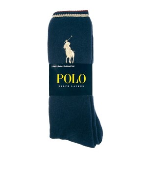 Image 2 ofPolo Ralph Lauren 2-Pack Large Polo Player Socks