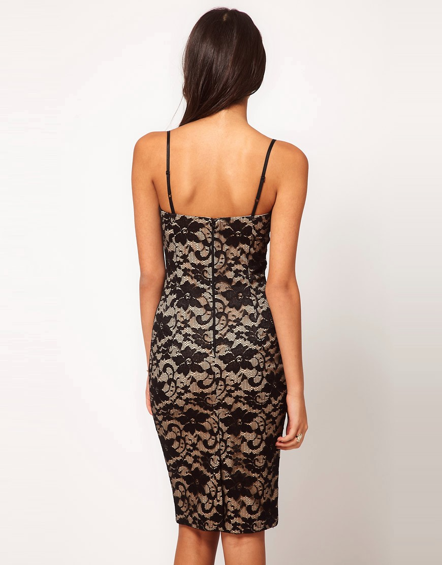 Image 2 of ASOS Sexy Lace Pencil Dress