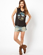 Denim & Supply By Ralph Lauren  Jeans-Shorts im Used-Look