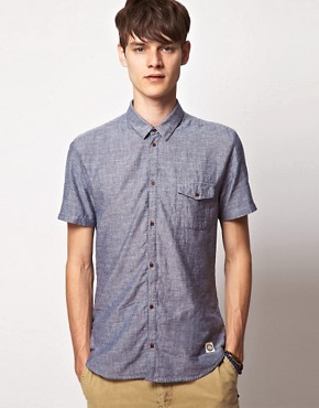 Image 1 ofSuit Short Sleeve Chambray Shirt
