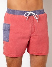 ASOS Swim Shorts With Acid Wash