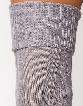 Image 2 ofASOS Wool Cable Over The Knee Sock