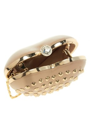 Image 2 ofAldo Hawse Studded Heart Clutch