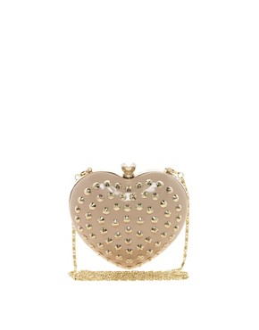 Image 1 ofAldo Hawse Studded Heart Clutch