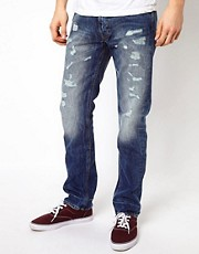 Vivienne Westwood Anglomania For Lee Classic Broken Up Jeans