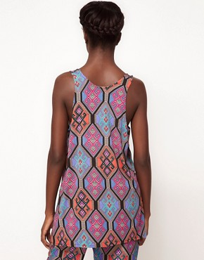 Image 2 ofMara Hoffman Drape Tank Top in Tile Print Silk