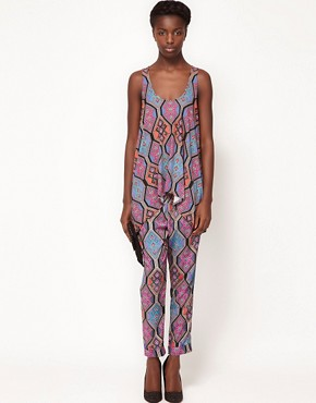 Image 4 ofMara Hoffman Drape Tank Top in Tile Print Silk