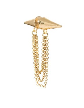 Image 1 ofASOS Double Spike Chain Earring