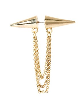 Image 2 ofASOS Double Spike Chain Earring