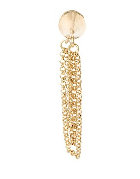 Image 4 ofASOS Double Spike Chain Earring