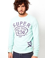 Superdry Sweatshirt with Tokyo tours Print
