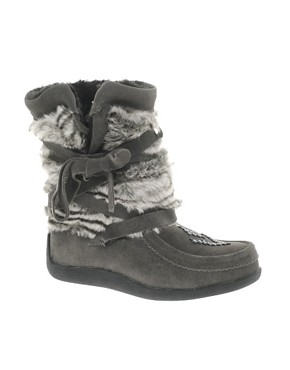Image 1 ofMuks Short Wrap Boot With Faux Fur