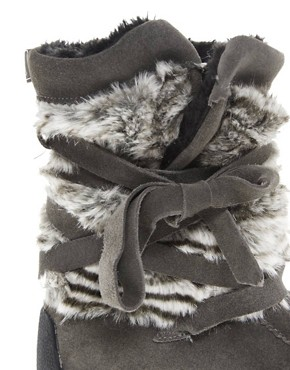 Image 2 ofMuks Short Wrap Boot With Faux Fur