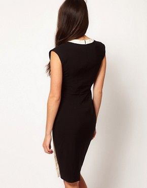 Image 2 ofHybrid Button Side Vintage Pencil Dress